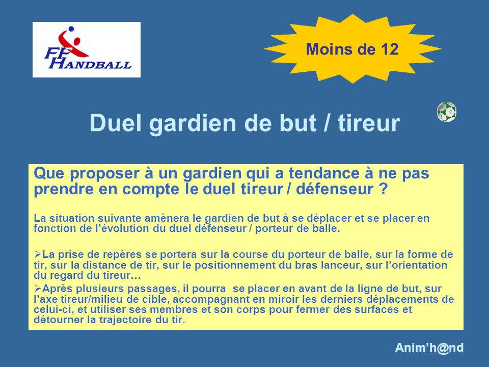 Duel gardien de but / tireur