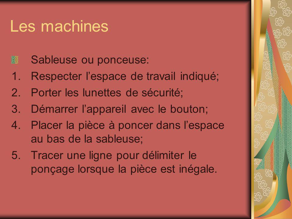 Les machines Sableuse ou ponceuse: