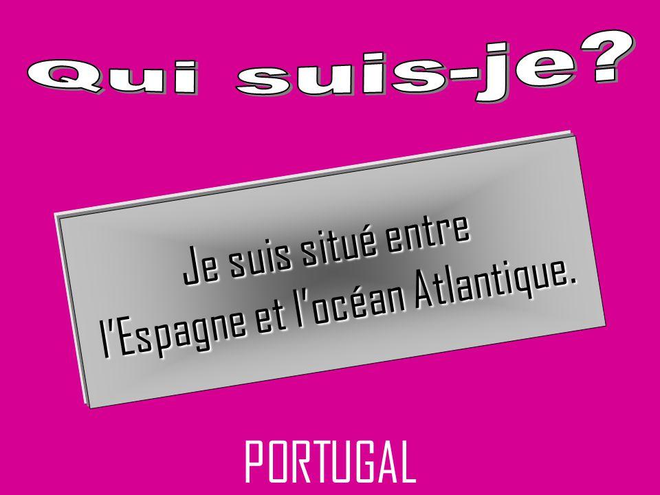 l'Espagne et l'océan Atlantique.