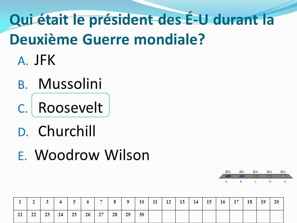 Qui était le président des É-U durant la Deuxième Guerre mondiale