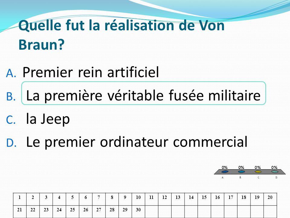 Quelle fut la réalisation de Von Braun