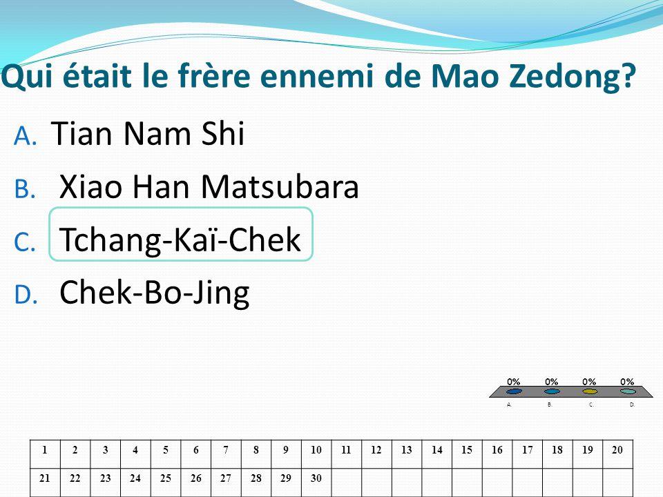 Qui était le frère ennemi de Mao Zedong