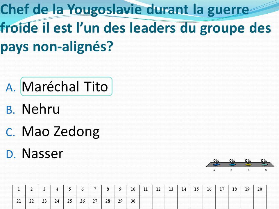 Chef de la Yougoslavie durant la guerre froide il est l'un des leaders du groupe des pays non-alignés
