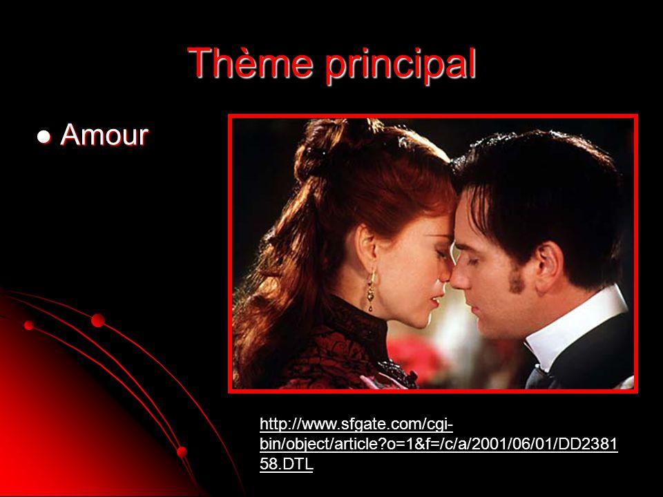 Thème principal Amour.