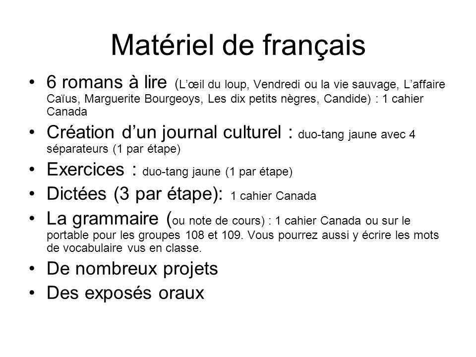 Matériel de français