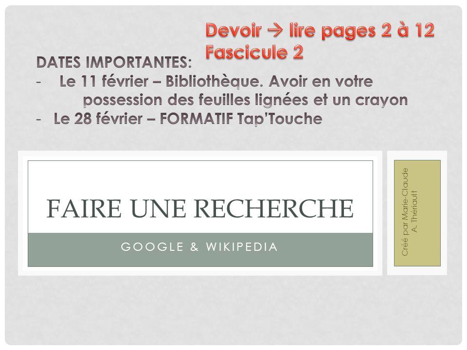 Créé par Marie-Claude A. Thériault