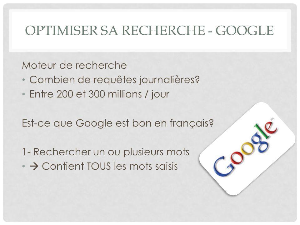 Optimiser sa recherche - Google