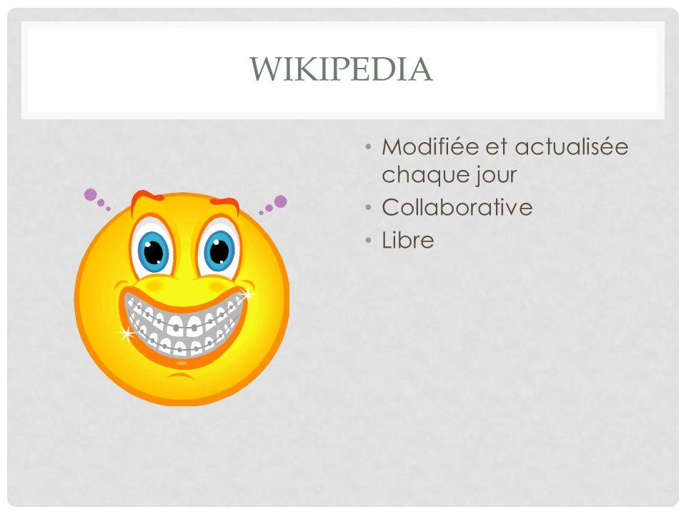 Wikipedia Modifiée et actualisée chaque jour Collaborative Libre