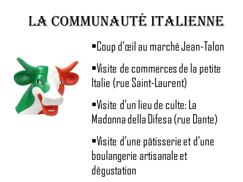 LA communauté italienne