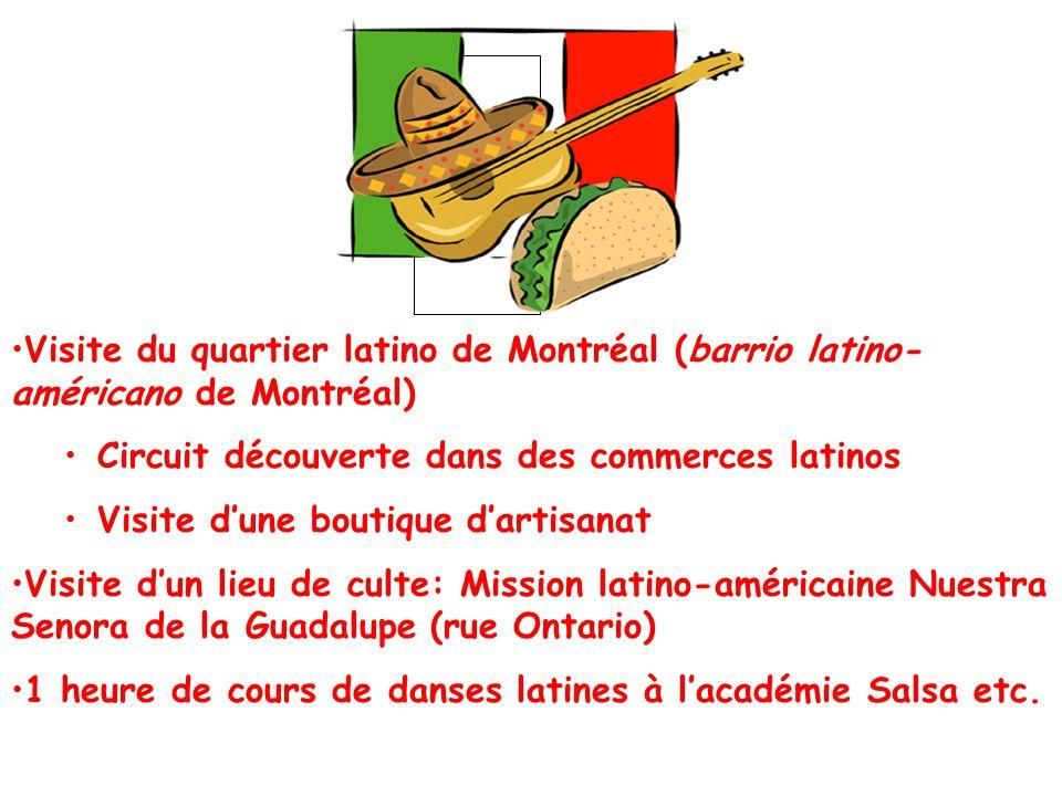 Visite du quartier latino de Montréal (barrio latino-américano de Montréal)