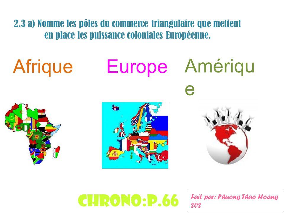 Afrique Europe Amérique Chrono:p.66