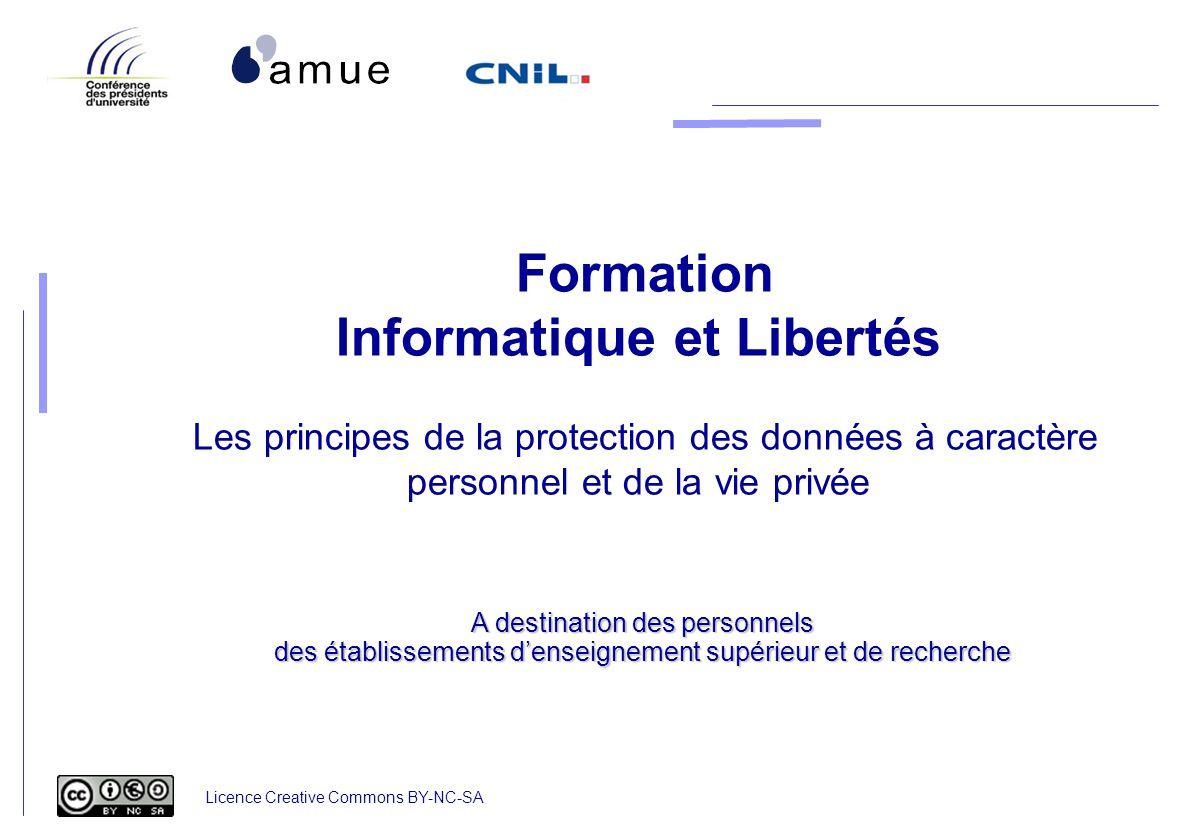 Formation Informatique et Libertés