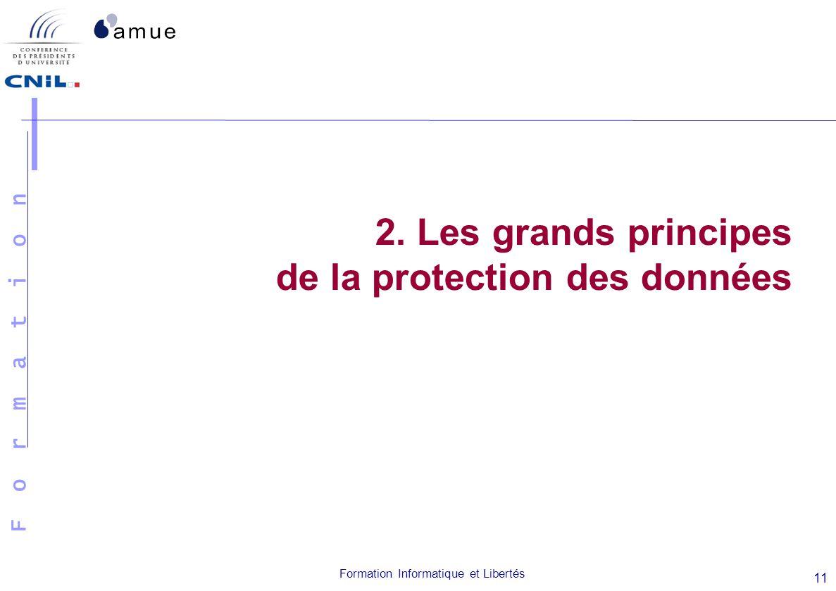 2. Les grands principes de la protection des données