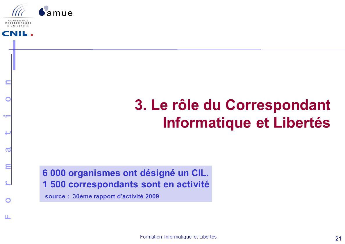 3. Le rôle du Correspondant Informatique et Libertés
