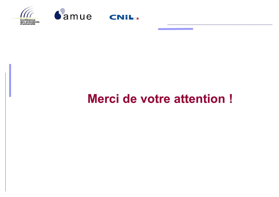 Merci de votre attention !