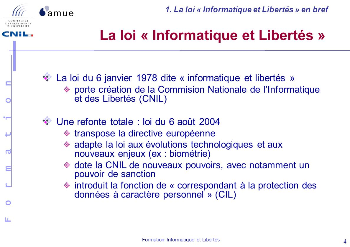 La loi « Informatique et Libertés »