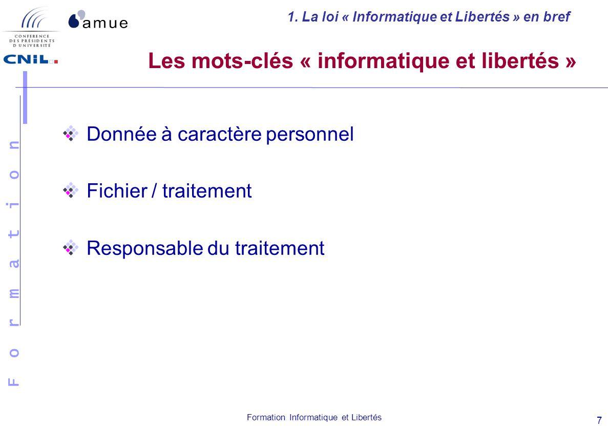 Les mots-clés « informatique et libertés »