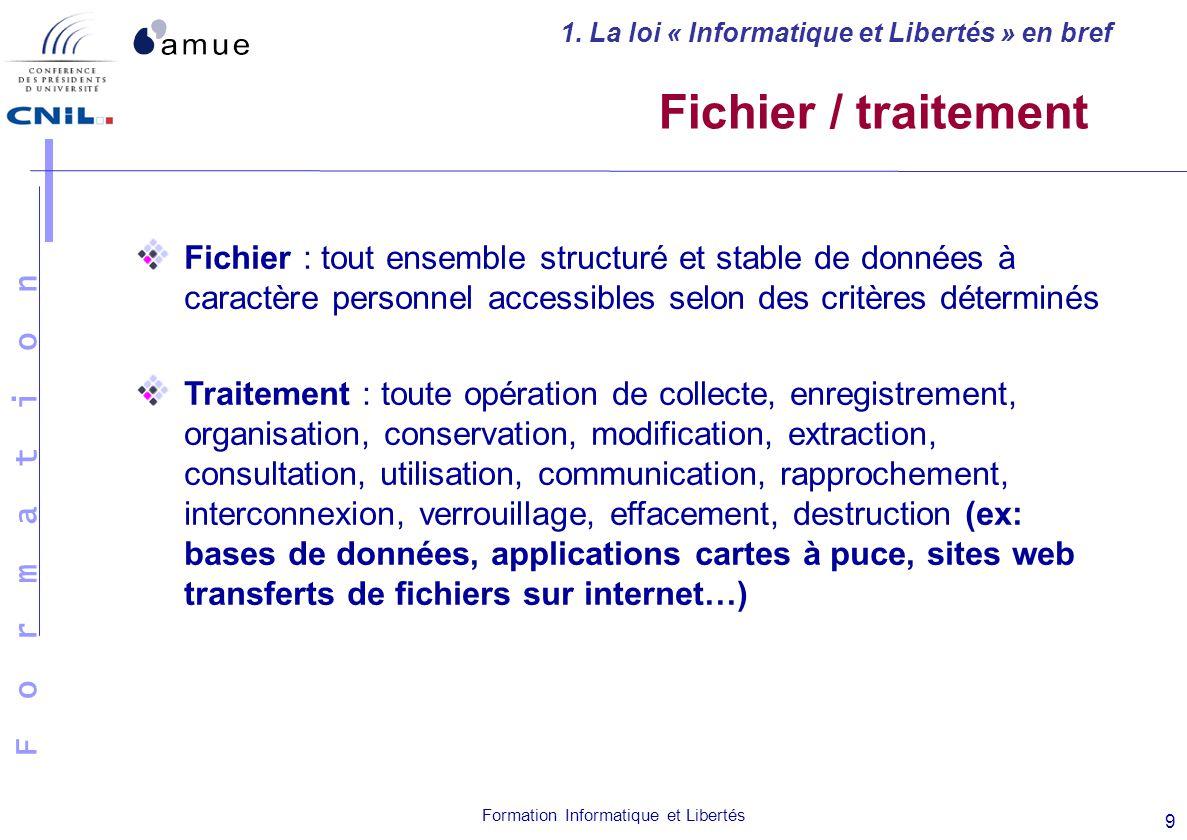 1. La loi « Informatique et Libertés » en bref