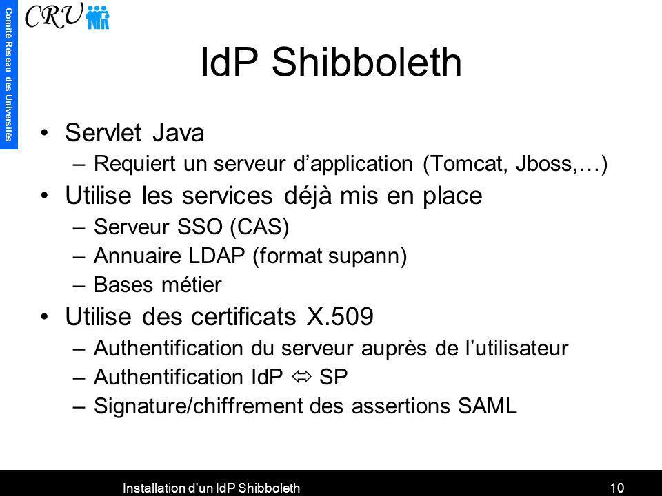 Installation d un IdP Shibboleth