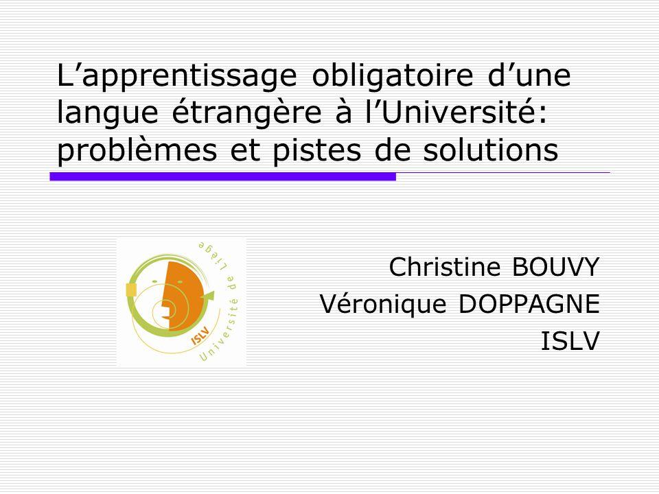 Christine BOUVY Véronique DOPPAGNE ISLV