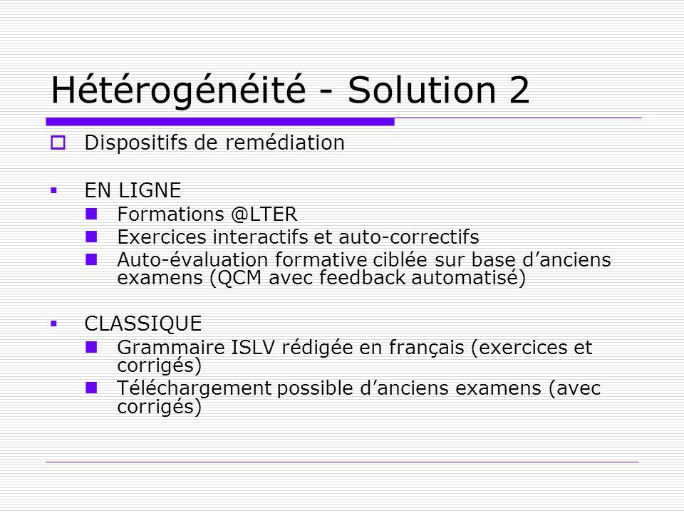 Hétérogénéité - Solution 2