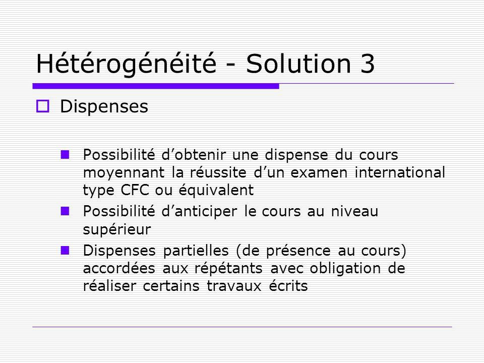 Hétérogénéité - Solution 3