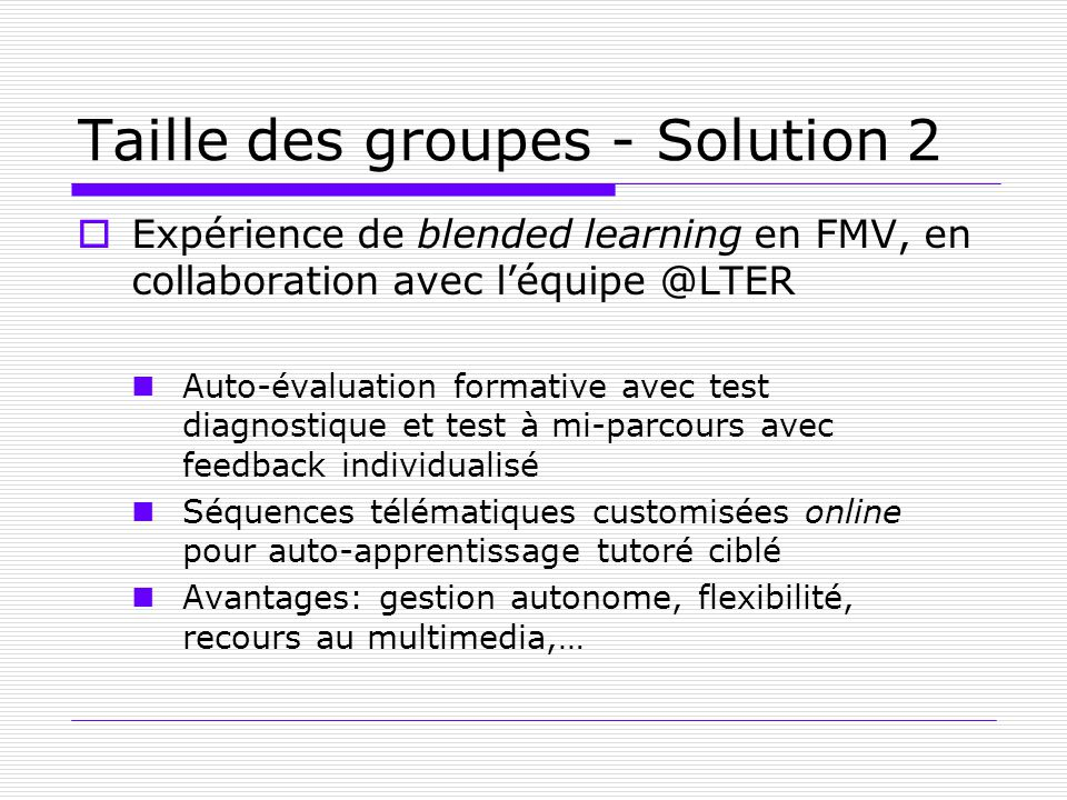 Taille des groupes - Solution 2