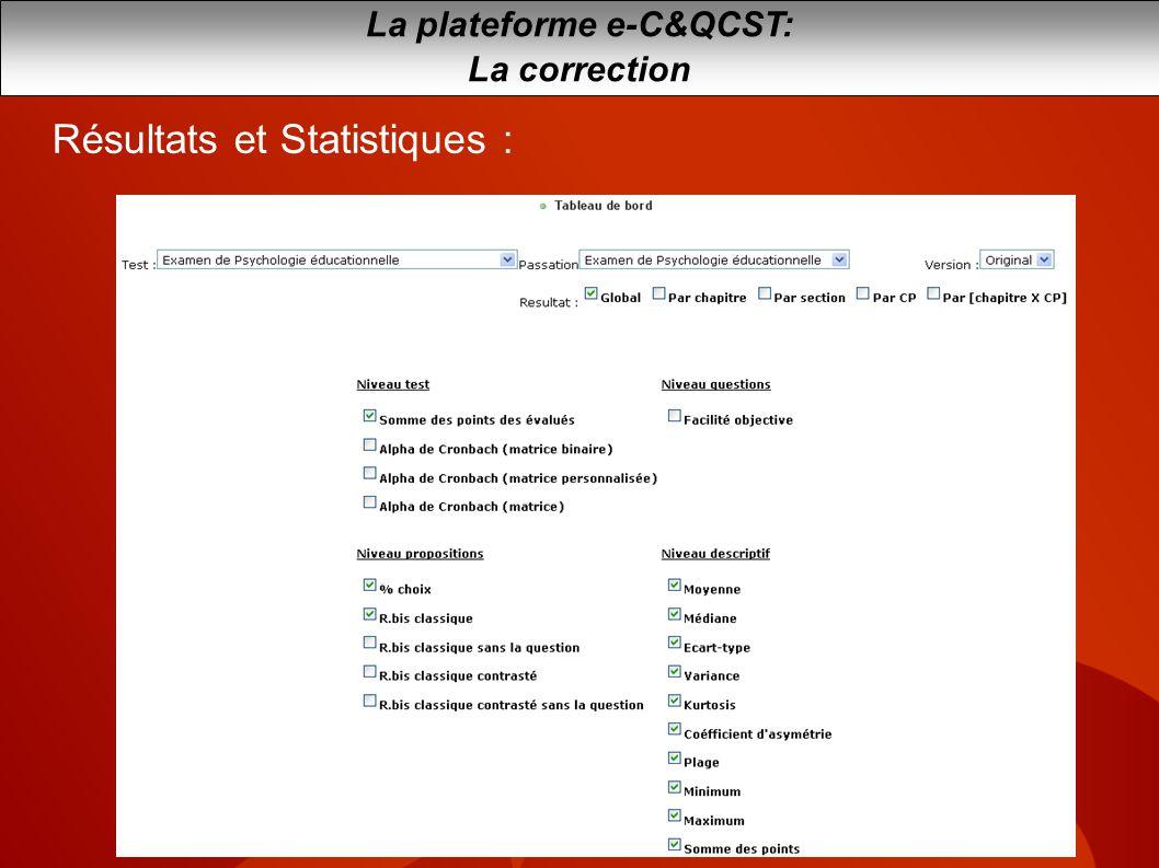 La plateforme e-C&QCST: