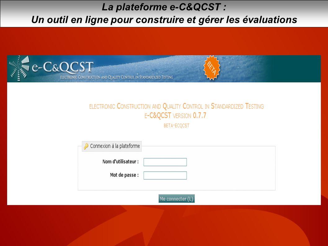 La plateforme e-C&QCST :