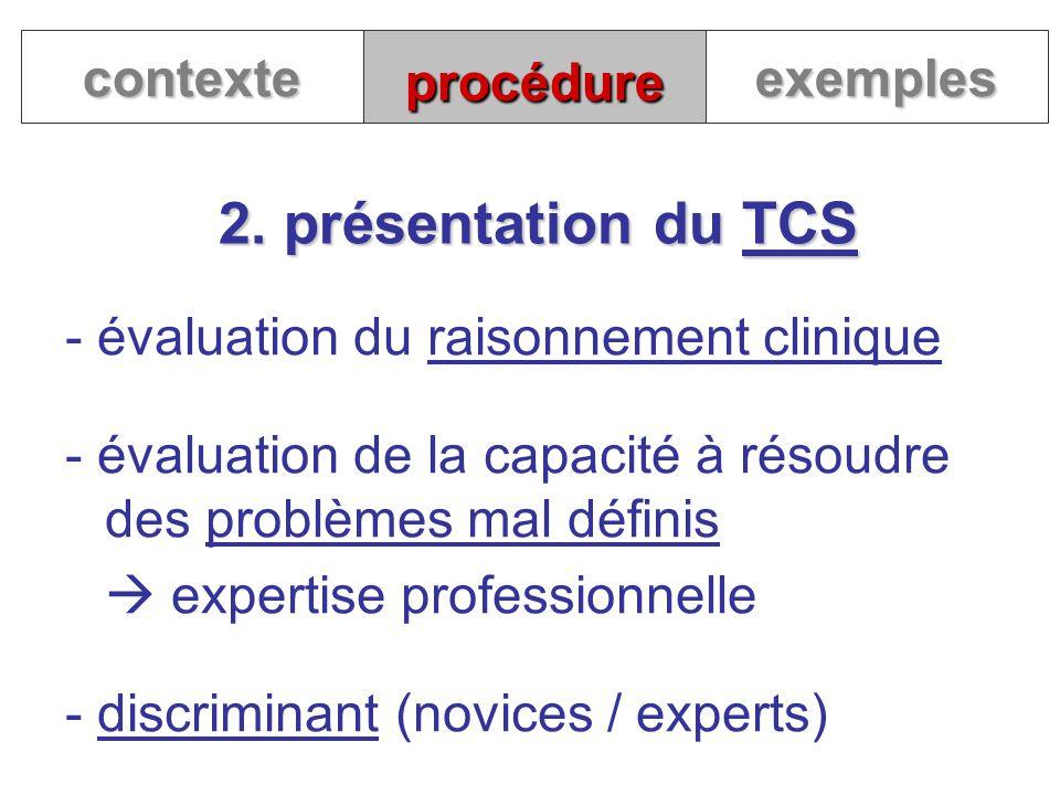 2. présentation du TCS contexte procédure exemples