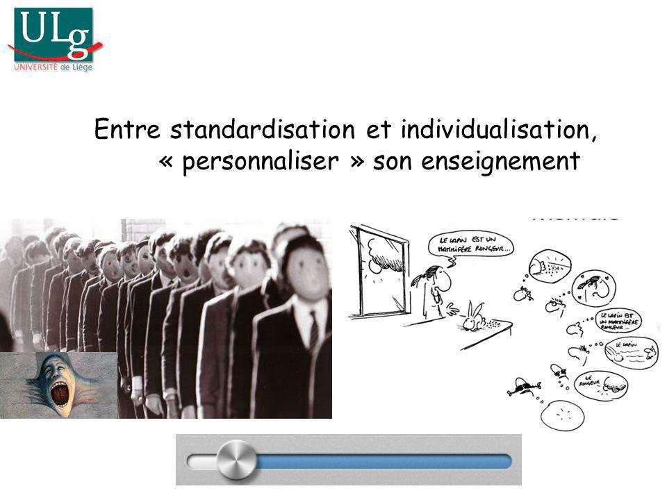 Entre standardisation et individualisation, « personnaliser » son enseignement