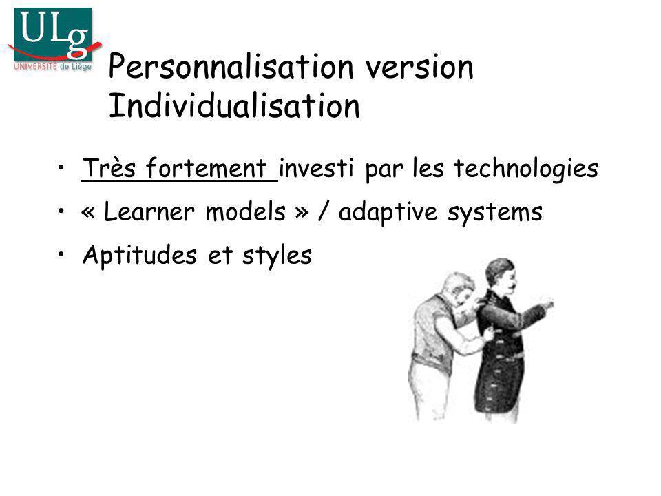 Personnalisation version Individualisation