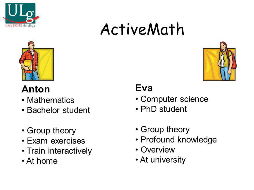 ActiveMath Eva Anton Computer science Mathematics PhD student