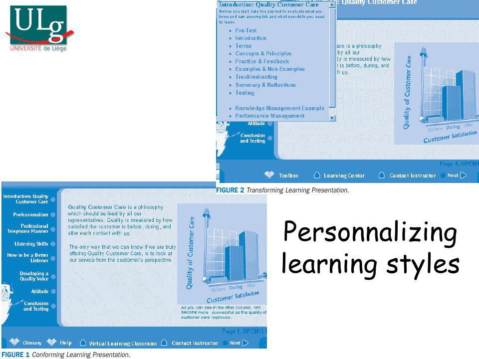 Personnalizing learning styles