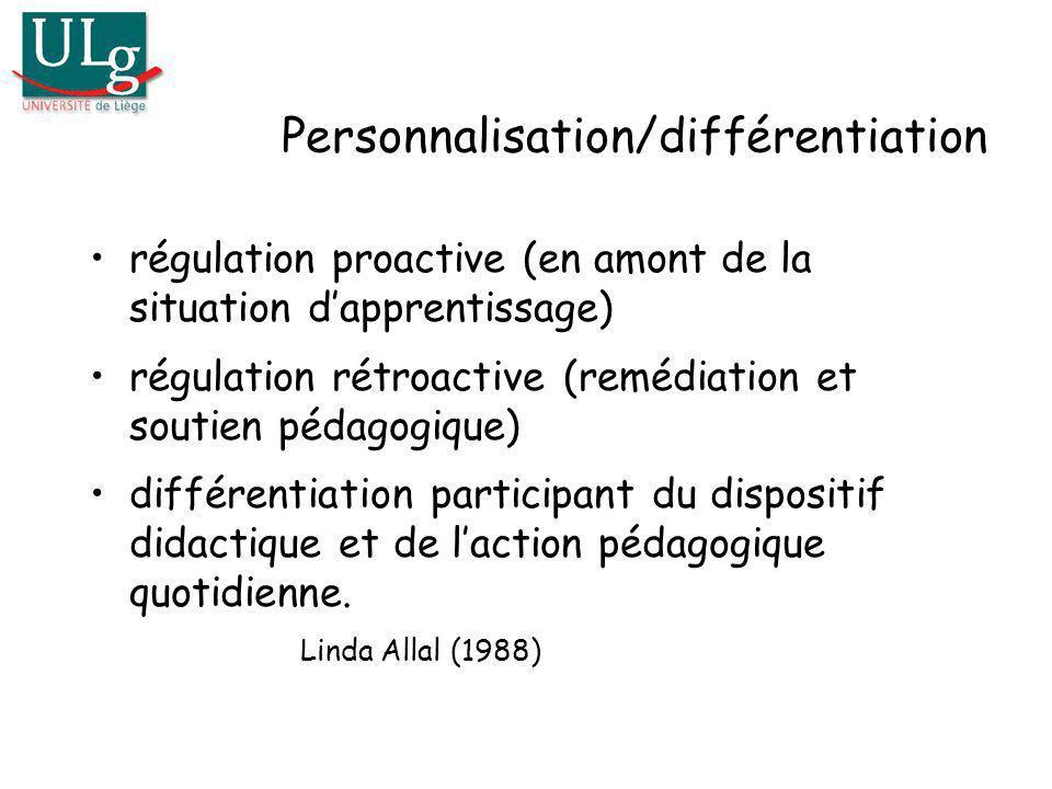 Personnalisation/différentiation