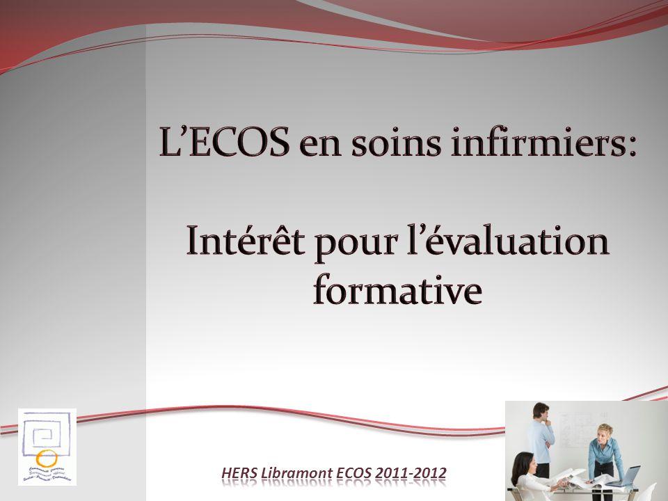 L'ECOS en soins infirmiers: Intérêt pour l'évaluation formative