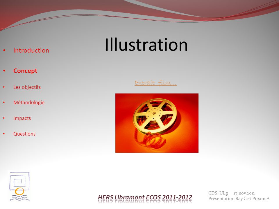 Illustration Introduction Concept Extrait film…