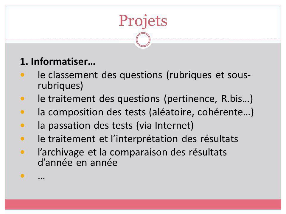 Projets 1. Informatiser…