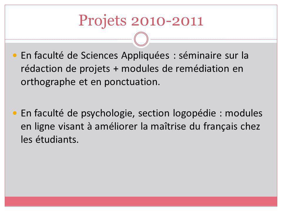 Projets 2010-2011