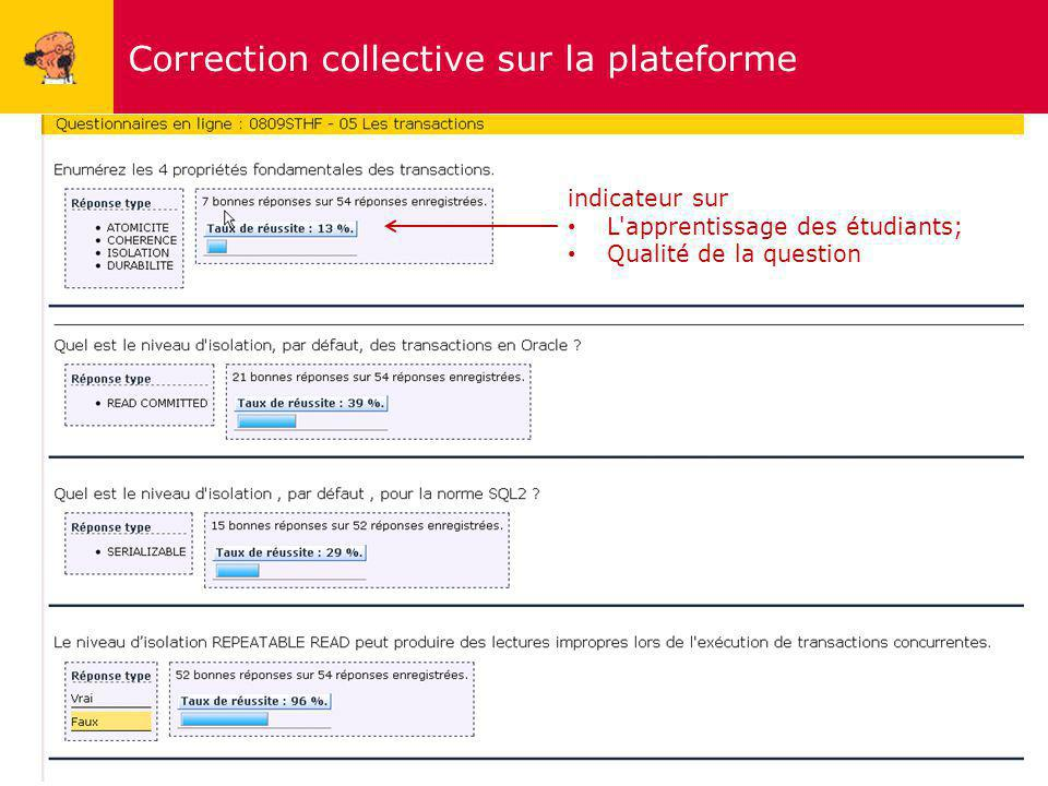 Correction collective sur la plateforme