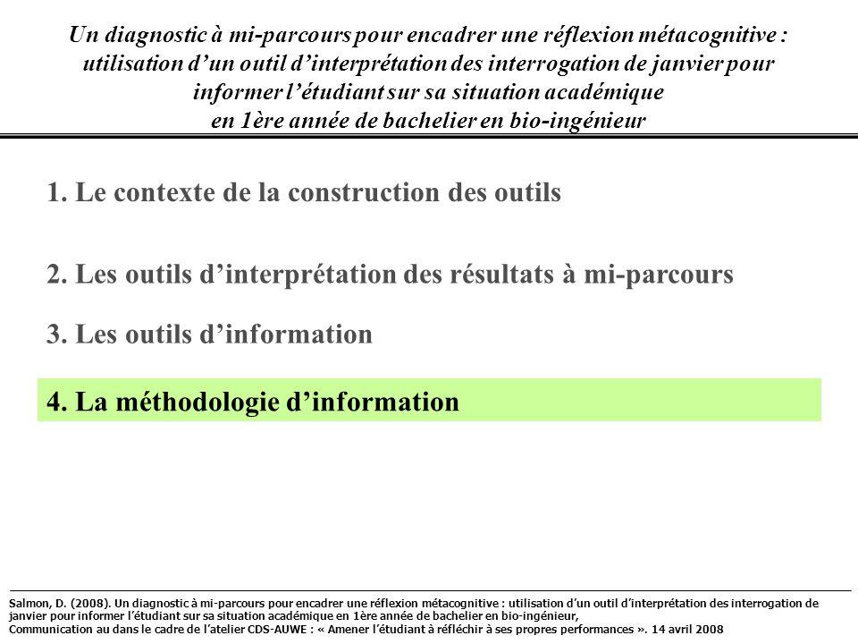 1. Le contexte de la construction des outils