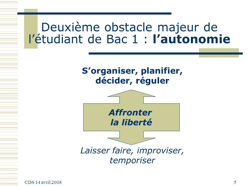 Deuxième obstacle majeur de l'étudiant de Bac 1 : l'autonomie