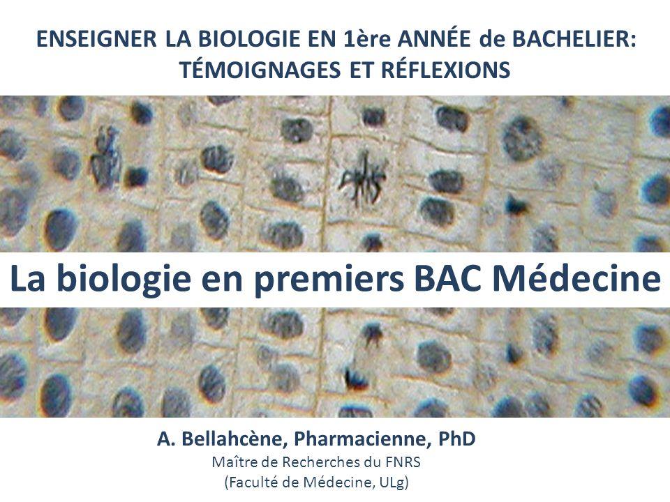 La biologie en premiers BAC Médecine