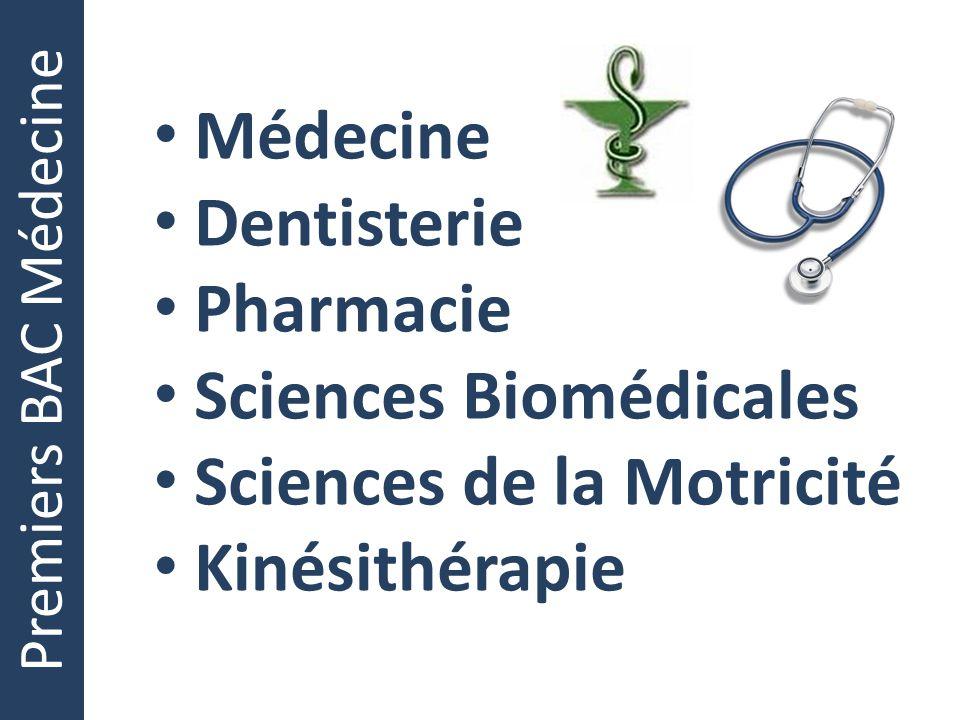 Sciences Biomédicales Sciences de la Motricité Kinésithérapie