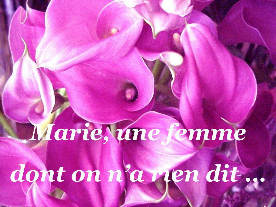 Marie, une femme dont on n'a rien dit …