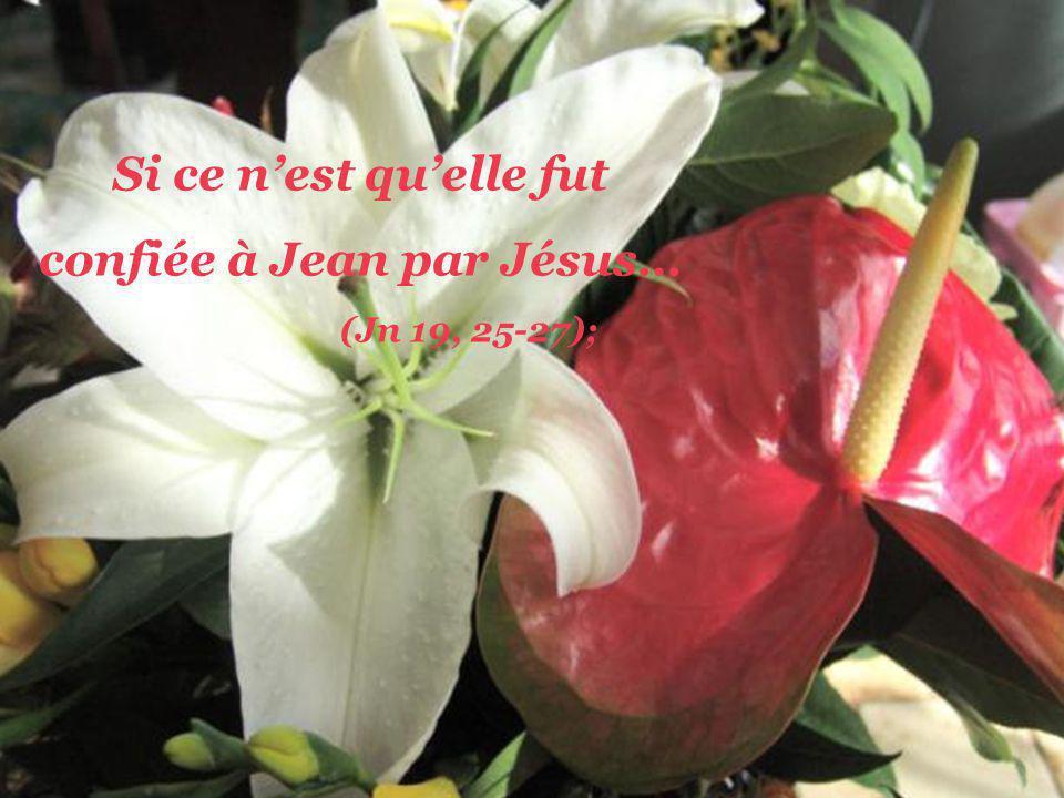 confiée à Jean par Jésus…