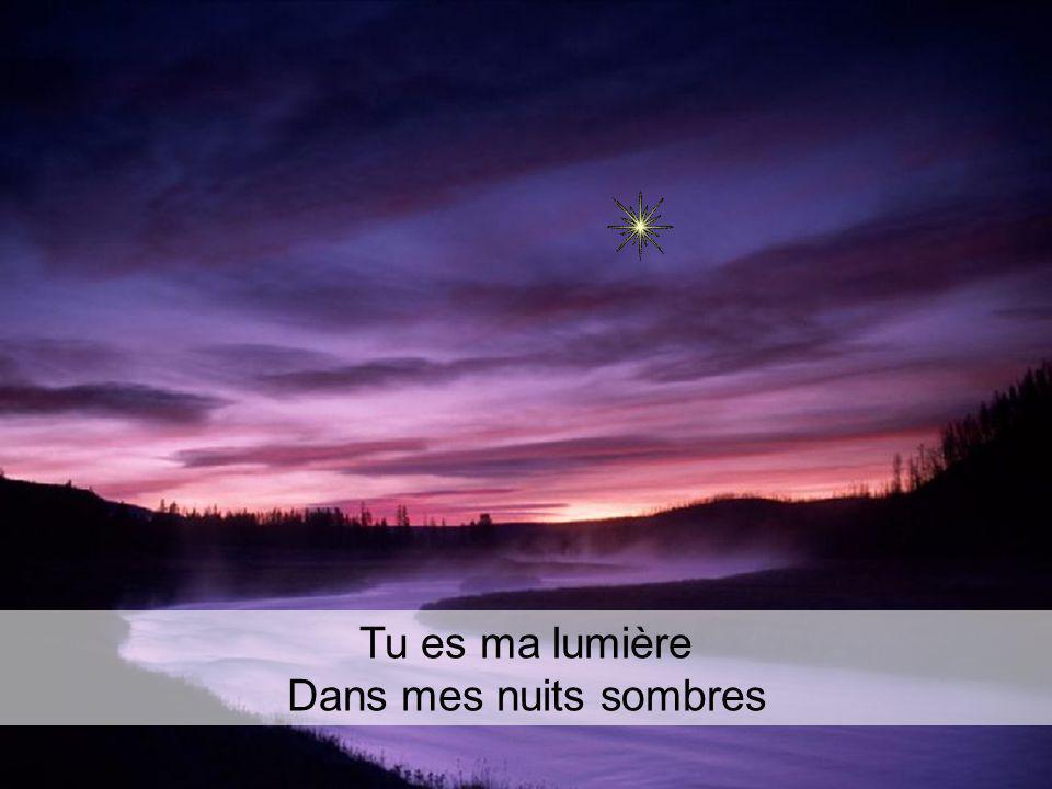 Tu es ma lumière Dans mes nuits sombres