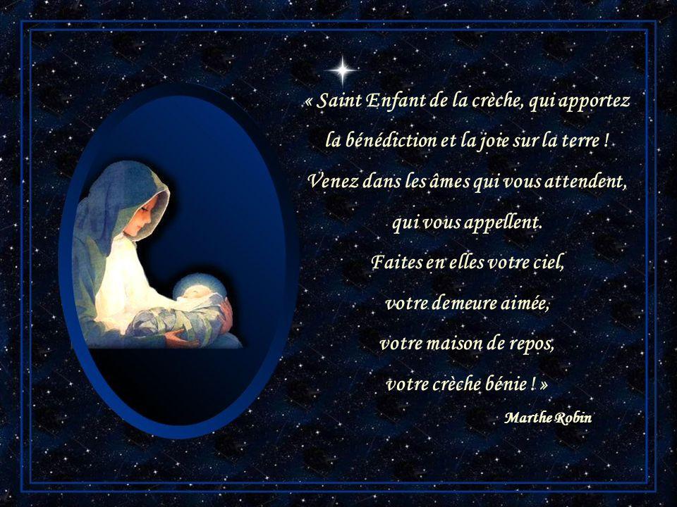 « Saint Enfant de la crèche, qui apportez