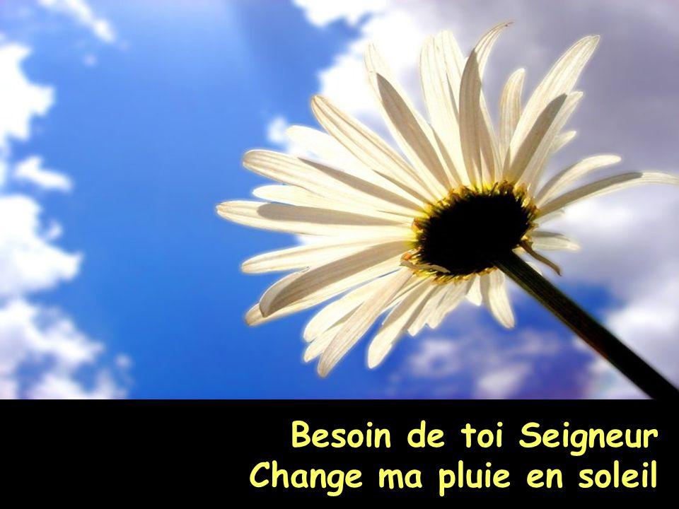Besoin de toi Seigneur Change ma pluie en soleil