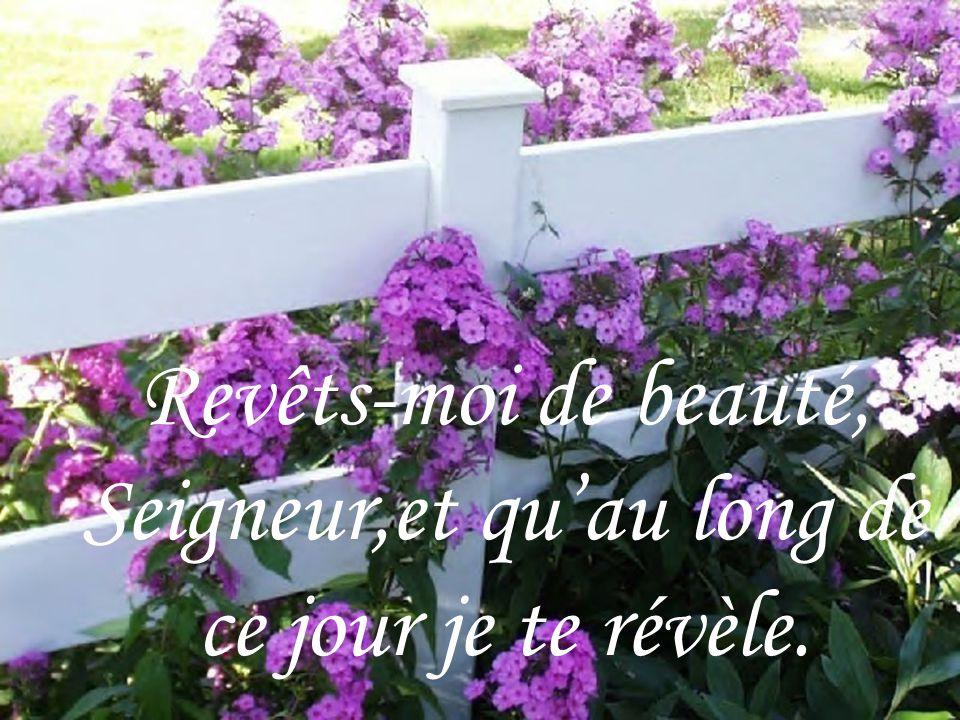 Revêts-moi de beauté, Seigneur,et qu'au long de ce jour je te révèle.